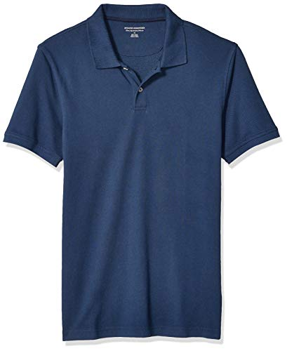 Amazon Essentials Mens Slim-Fit Cotton Pique Polo Shirt Shirt, -Cadet Blue, Medium