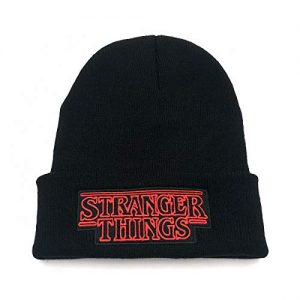 owho Stranger Things Embroidered Fashion Trend Knit Cap Men and Women Warm Wool Hat Support Wholesale Black