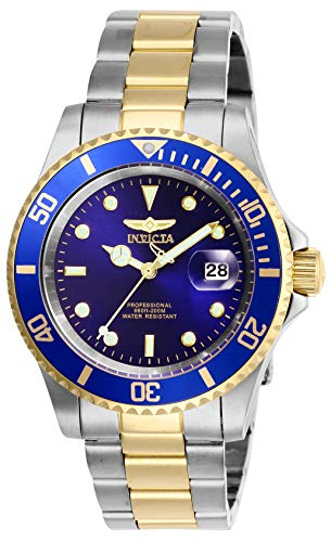 Invicta Mens Pro Diver Quartz Watch with Stainless Steel Strap, Two Tone, 20 (Model: 26972)